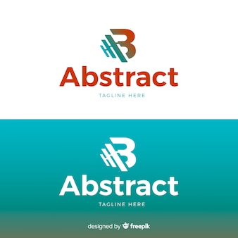 Шаблон письма логотипа для светлого и темного фона