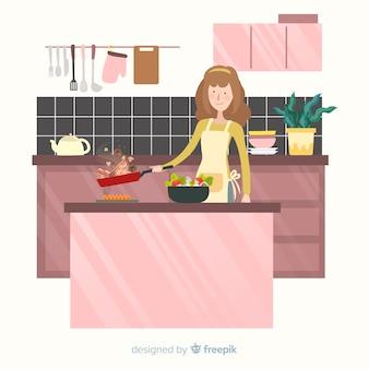 手描きの人料理の背景