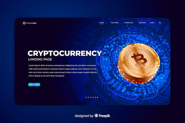 Шаблон целевой страницы биржи криптовалют