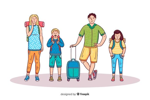 Квартира счастливая семья путешествует фон