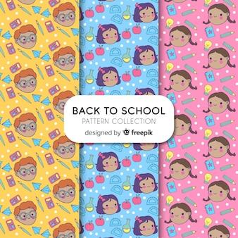 学校パターンコレクションに引き戻される手