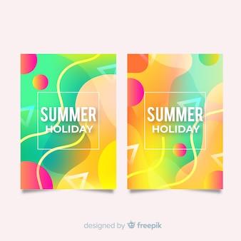 波状のカラフルな夏カバーコレクション