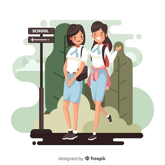 Квартира обратно в школу школьниц