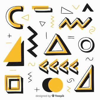 手描きの抽象的な幾何学的な背景