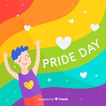 Красочный фон флаг гордости