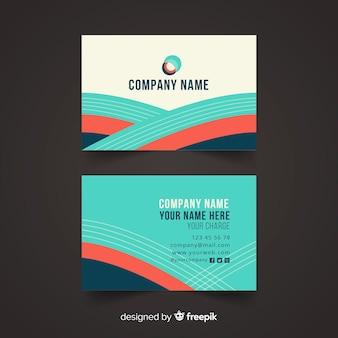 Абстрактный плоский шаблон визитной карточки
