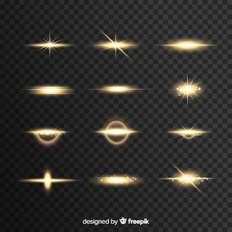 現実的な光のバースト