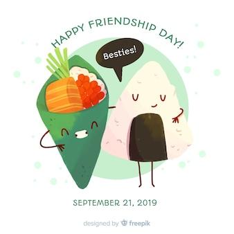 День дружбы фон акварель стиль