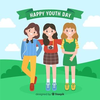 平らな若者の日の背景
