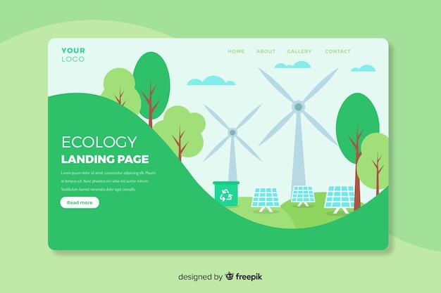 Шаблон целевой страницы экологической концепции