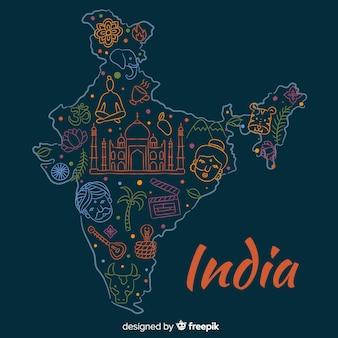 手描きインドマップの背景