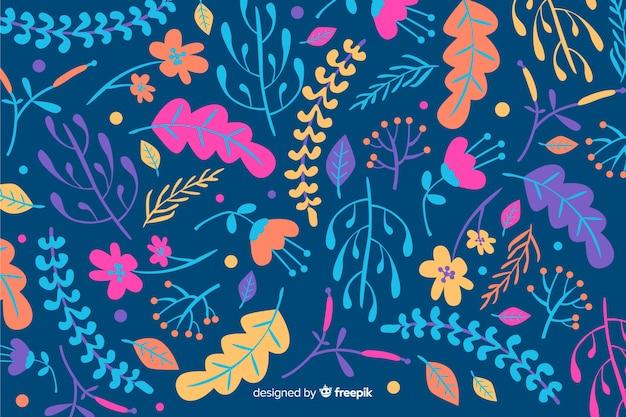 Рисованной красочный цветочный фон