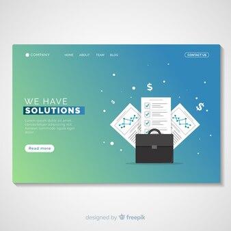 ビジネスソリューションのランディングページテンプレート