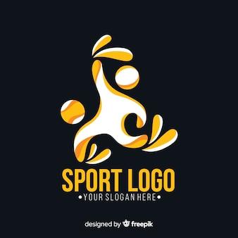 Спортивный логотип шаблон с абстрактной формой