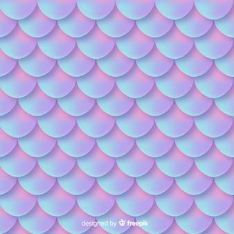 ホログラフィック人魚の尾の装飾的な背景