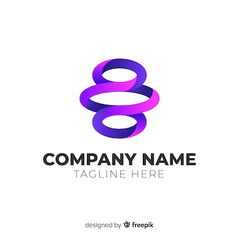 Градиент абстрактный логотип плоский дизайн