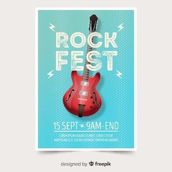 グラデーションイラスト音楽祭ポスター