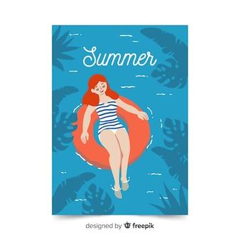 Ручной обращается стиль сезонный плакат коллекции