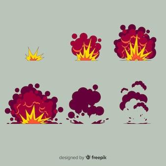 Ручной обращается мультфильм эффект взрыва коллекции