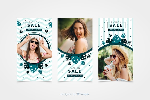 Модная распродажа инстаграм историй с фото