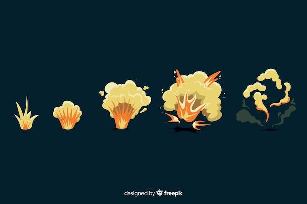 手描き漫画の爆発効果のコレクション
