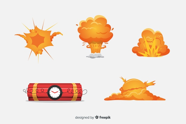 漫画爆弾と爆弾の爆発効果のコレクション