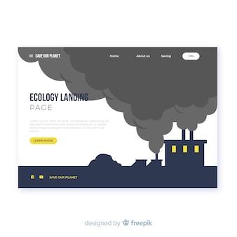 フラットエコロジーランディングページテンプレート