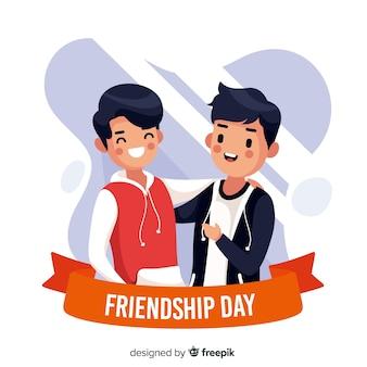 フラットなデザインの友情日の背景
