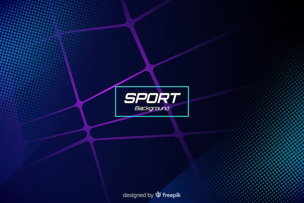 抽象的な形とスポーツの背景