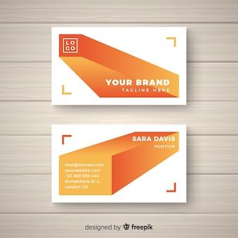 Шаблон визитной карточки с абстрактными формами