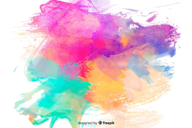 抽象的なカラフルな水彩画の汚れの背景