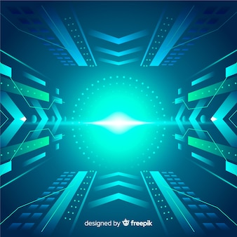 Технологический свет туннеля фон плоский дизайн