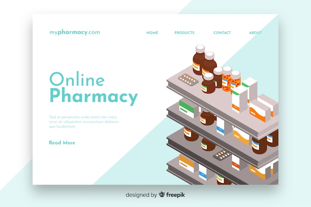 オンライン薬局ランディングページテンプレート