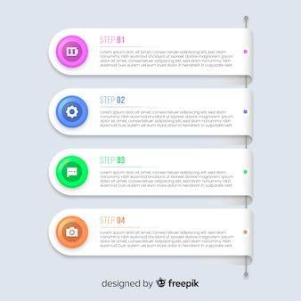 Красочный инфографики градиент плоский дизайн