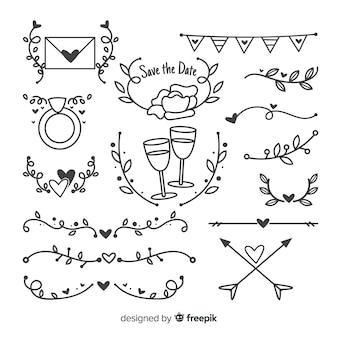 Ручной обращается коллекция свадебных украшений