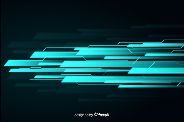 光の動きの背景フラットデザイン