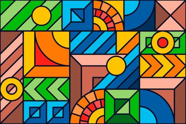 カラフルな幾何学的なモザイクの背景