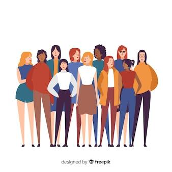 人の背景の多民族のグループ