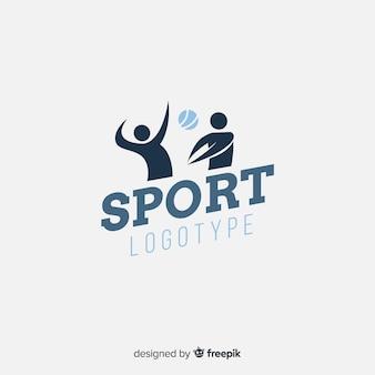 抽象的なシルエットスポーツロゴフラットデザイン