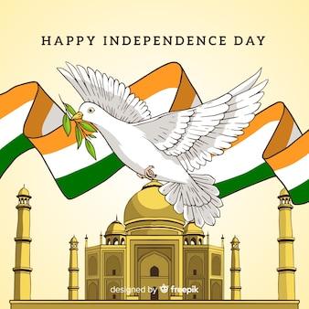 手描きインド独立記念日の背景