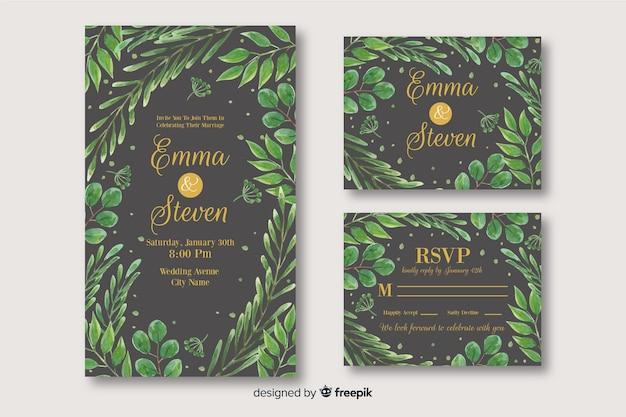 結婚式の文房具のテンプレートコレクション