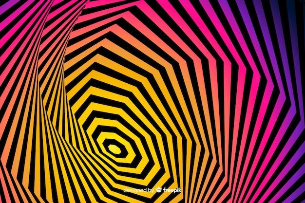 Оптический эффект иллюзии фон