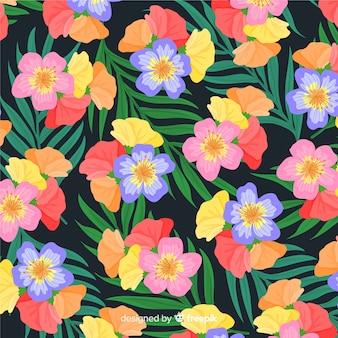 Красочный тропический цветок узор фона