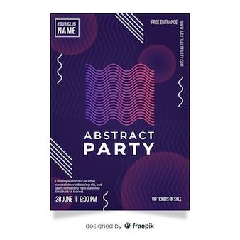Шаблон плаката с абстрактными фигурами