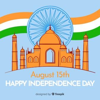 幸せなインドの独立記念日の背景