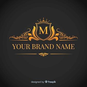 黄金の優雅なコーポレートのロゴのテンプレート