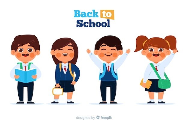 平らな子供たちは学校のコレクションに戻る