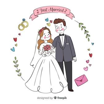 Ручной обращается свадьба пара фон
