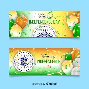 Счастливые баннеры дня независимости индии
