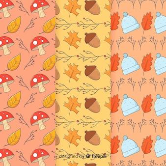 手描き秋パターンのコレクション